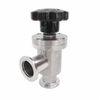 Stainless Steel Manual Bellows Sealed Angle Valves KF Flanged