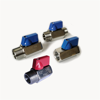 Stainless Steel Compact Threaded Low-profile Mini Ball Valve