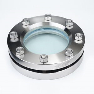 Sanitary Stainless Steel Round 10 Bar Pressure Flanged Sight Glass