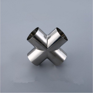 Sanitary Butt Weld Cross-Stainless Steel 304/316L