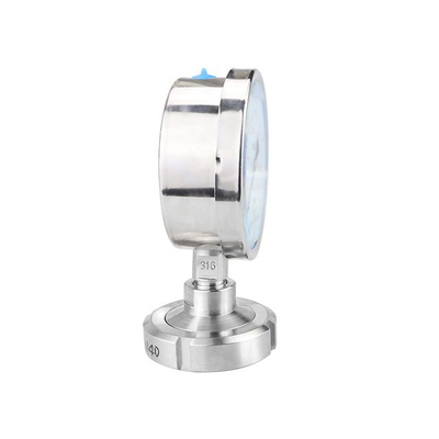 Sanitary Stainless Steel DIN Union Diaphragm Manometer