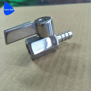 Stainless Mini Ball Valve Stainless Lever-Hose Barb to Female End