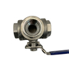 Stainless Steel Full Port 3-Way Ball Valve With Mounting Pad