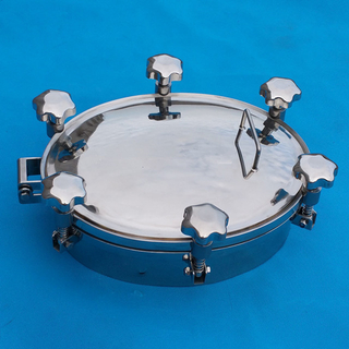 Sanitary Pressure Eliptical Tank Manhole Cover Stainless Steel
