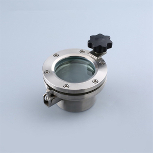 Sanitary Stainless Steel DN100 Pipe Flange Sight Glass