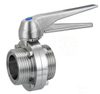Sanitary DIN Threaded Manual Butterfly Valve with Stainless Steel Handle