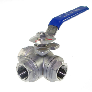 Stainless Steel 3-Way T Port Ball Valve 1000WOG