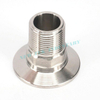 Sanitary Stainless Steel Tri Clamp to Male BSPT Adapter w/Hex Type