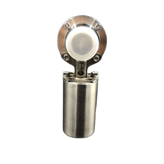 Sanitary Stainless Steel Tri Clamp Butterfly Valve Smalll Pneumatic Actuator