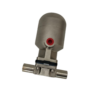 "1/2"" Stainless Steel AISI316 Metal Pneumaticlly Actuated Hygienic Diaphragm Valve"