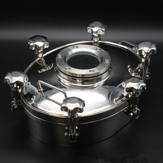 Sanitary Stainless Steel Pressure Oval Tank Sight Glass Manhole Cover