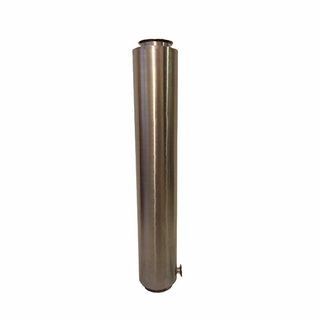 Stainless Steel Tri-Clamp Dewaxing Column w/ TC Drain