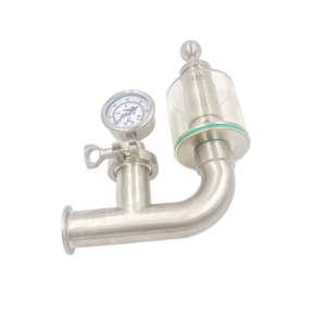 Santiary Stainless Steel Tri Clover Compatible Pressure Relief Valve Manometer
