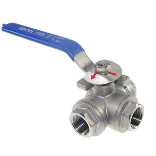 Stainless Steel 3-Way L Port Ball Valve 1000WOG