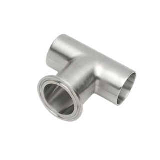 Sanitary Stainless Steel Weld Run x Clamp Branch Tee