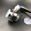 Tri Clamp Manual Sanitary Stainless Steel Butterfly Valve Trigger Handle Food Grade