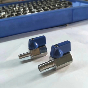 Stainless Steel Mini Ball Valve Female Threads to Hose Barb