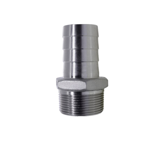 Stainless Steel Hexagon Hosetail Barb 150LB Threaed Fitting