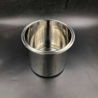 Stainless Steel Tri Clamp Base Tank w/ Round Flat Bottom
