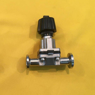 "Sanitary Stainless Steel Manual Mini Diaphragm Valve 1/2"" Clamp"