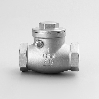 Stainless Steel Swing Check Valve Threaded Ends