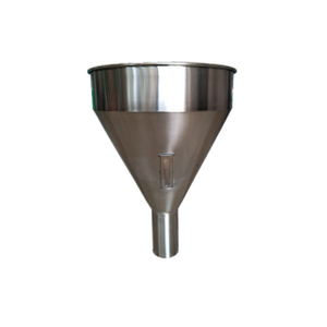 Stainless Steel Essentric Hopper With Tri-Clamp Ferrule Mounting