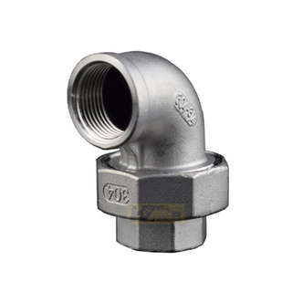 Stainless Steel BSP Elbow Union Cone Seat 150LB Threaed Fitting