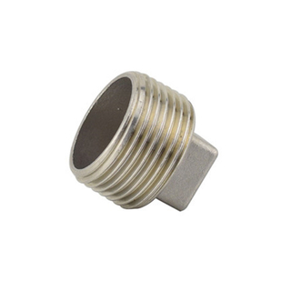 Stainless Steel Square Head Plug 150LB Threaed Fitting