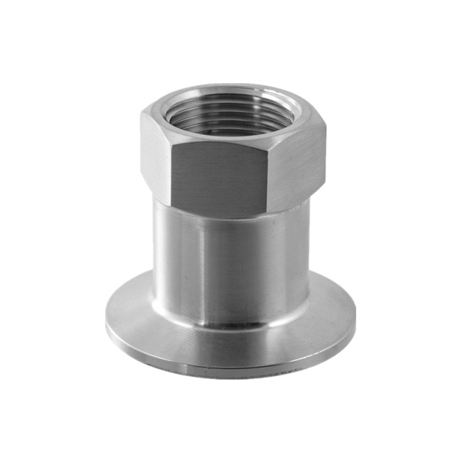 Sanitary Stainless Steel Pipe Fitting Female BSP X Tri Clamp Adapters