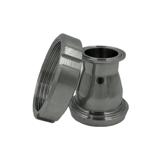 Sanitary Stainless Steel Tri-Clamp x Female DIN Adapter