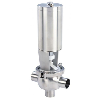 Hygienic SS316L Stainless Steel Pneumatic T Type Divert Valve