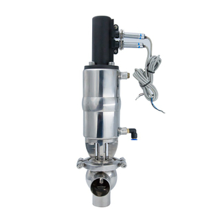 Sanitary Stainless Steel 316L L Type Divert Seat Valve with Positioner